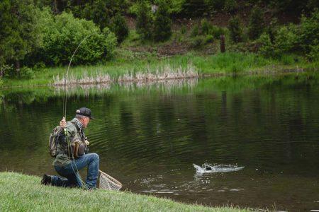 Shoring a fish at Greenhorn Ranch