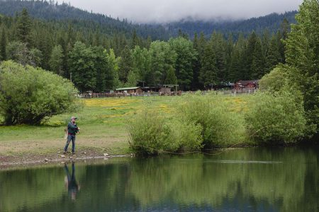 Fly-fishing at Greenhorn Lake