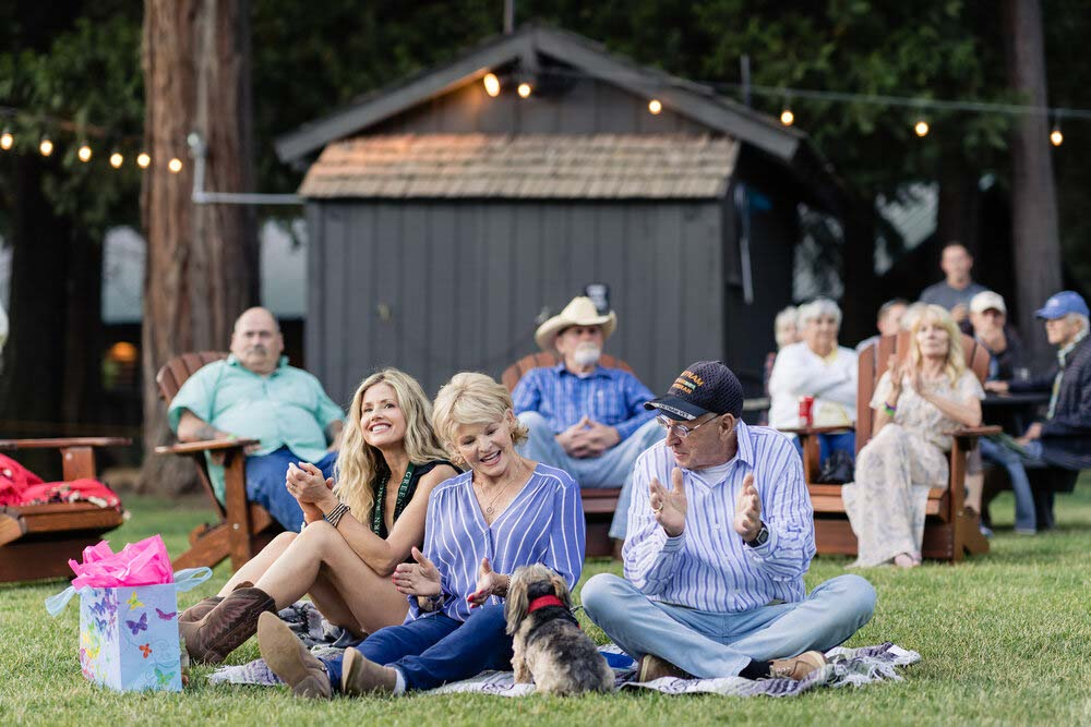 People enjoying a concert at Greenhorn Ranch