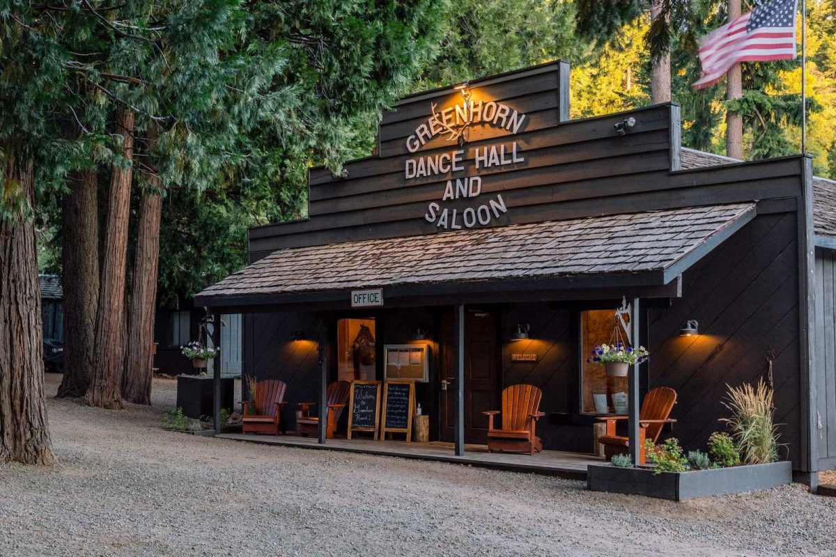 The Greenhorn Saloon from the outside