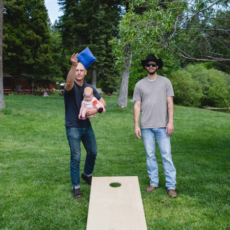 More fun at Greenhorn Ranch - a couple playing cornhole