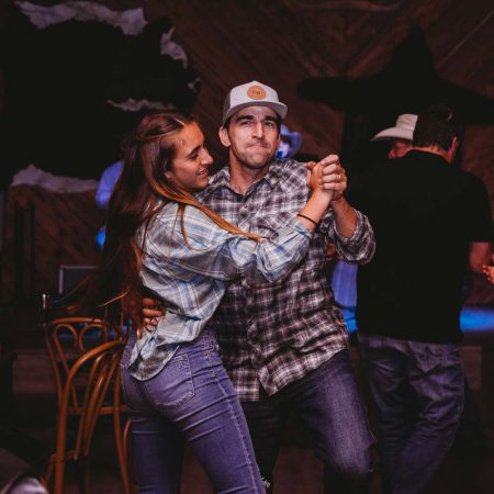Evening Fun - a couple dancing at a Greenhorn Ranch concert