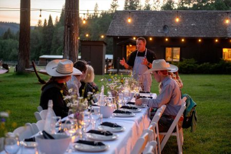 An intimate private dinner by the lake at Greenhorn Ranch