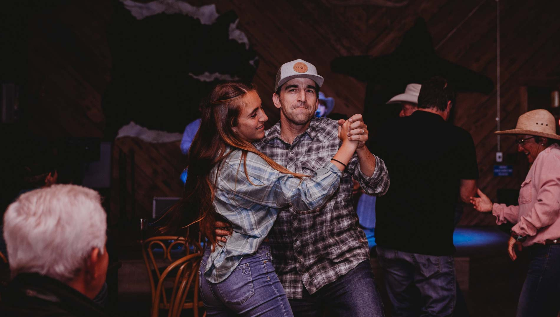 A couple dancing to live music at Greenhorn Ranch