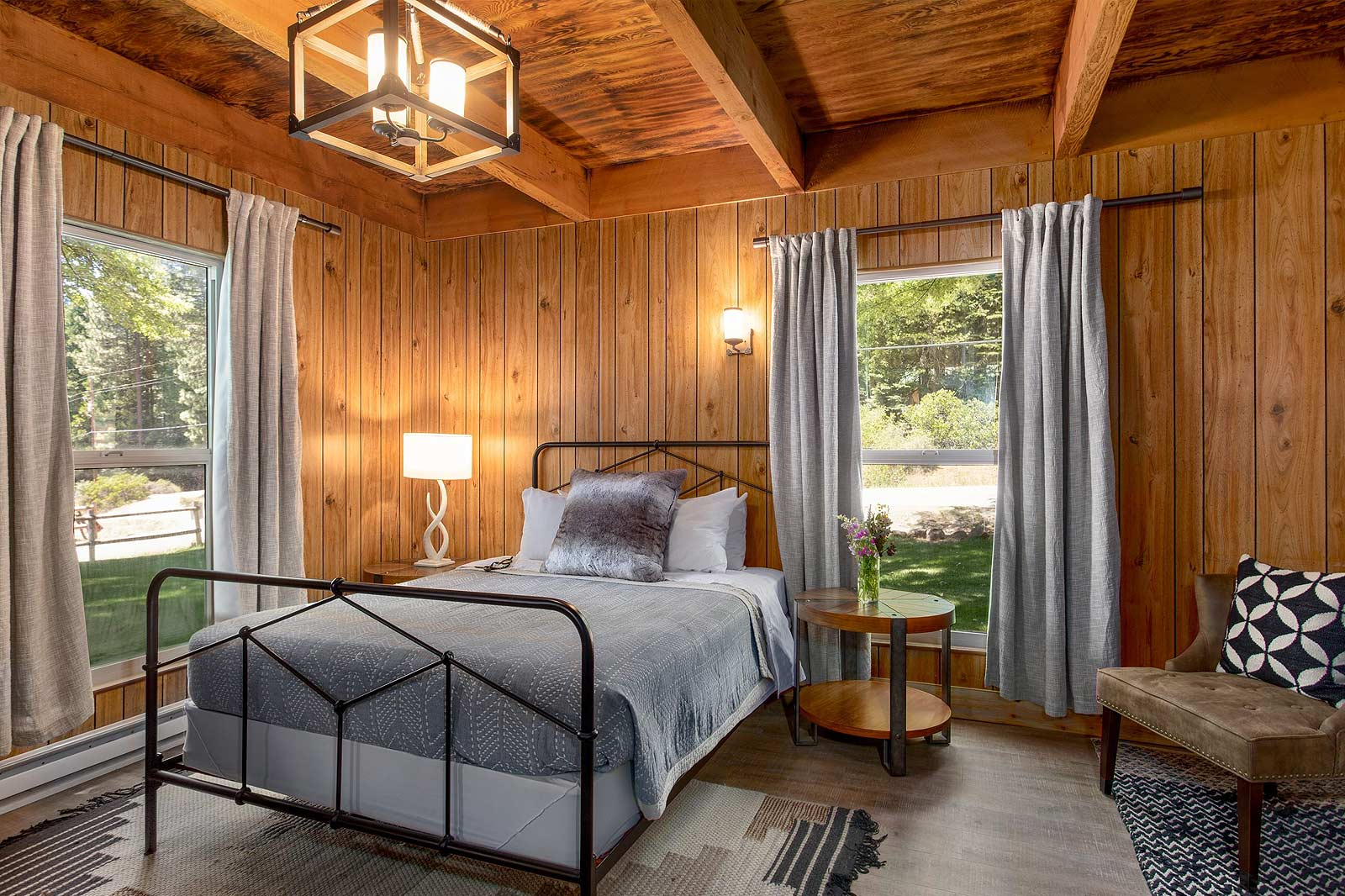 A luxurious bedroom in the Lodge at Greenhorn Ranch