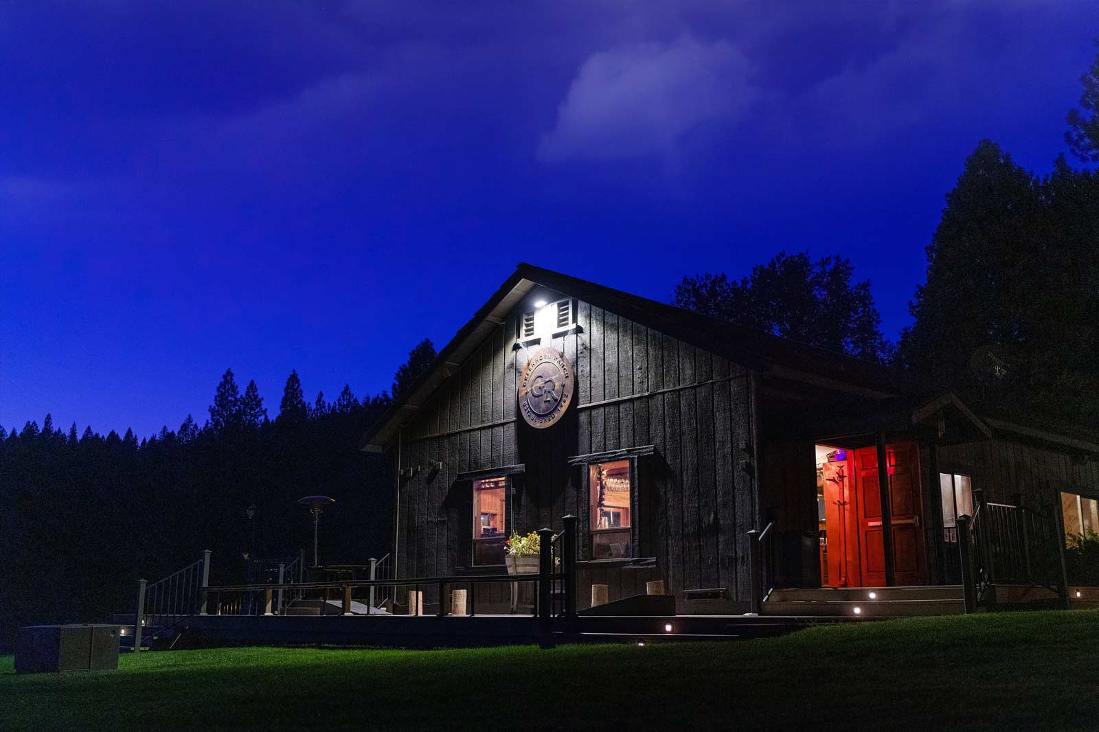 The Greenhorn Dining Hall & Saloon under the night sky